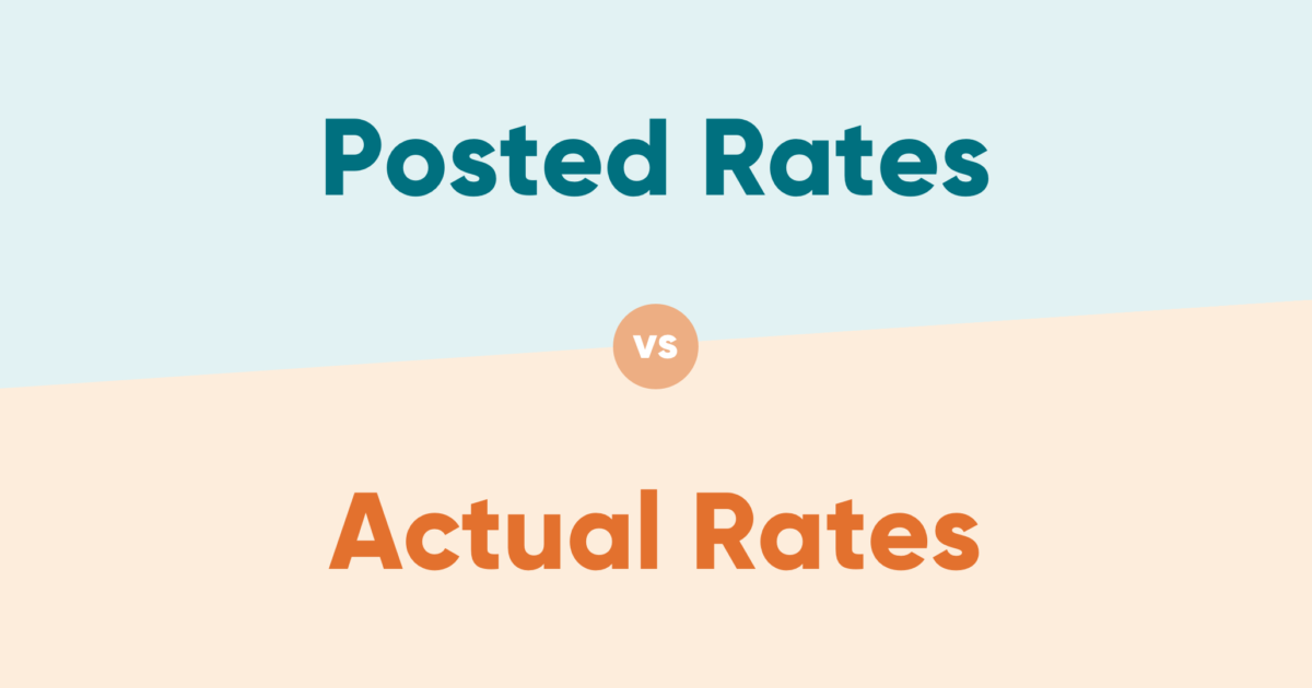 Posted Rates vs Actual Rates
