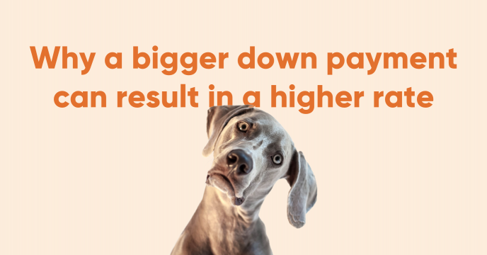 Why a bigger down payment can result in a higher rate